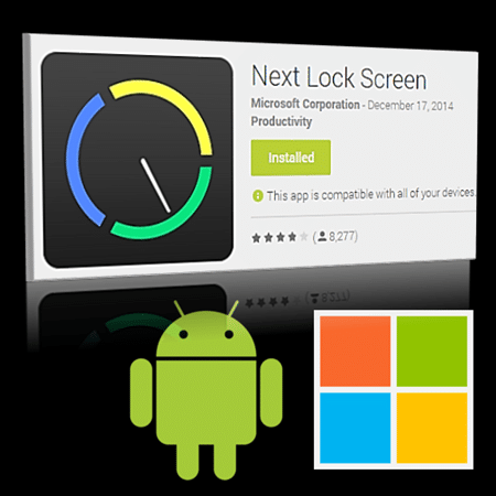 Microsoft Next - Android lock screen app