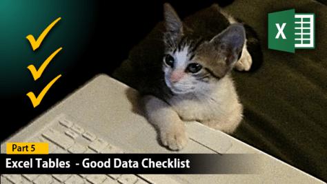 good data checklist