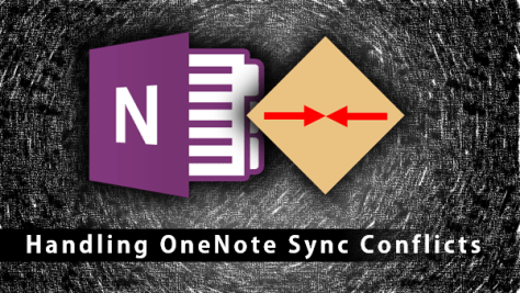 how to handle Onenote sync conflicts