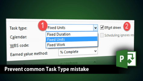 Microsoft Project - Wrong task type