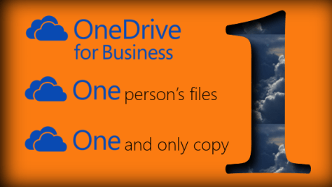 "OneDrive for ""One"" person"