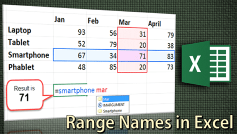 range names in Excel