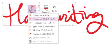 Handwritten notes to Tasks - Toolbar