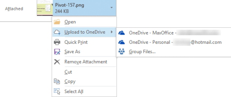 Outlook Attachments - local file options