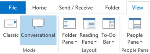 Outlook Conversational View