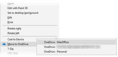 Move to OneDrive option