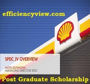 SPDC Post Graduate Scholarship Program