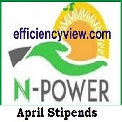 Npower April Stipends Payment news 2020