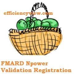 FMARD Npower Validation Registration Survey for Agro/Teach/Health Beneficiaries 2020