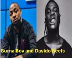 Burna Boy and Davido Beefs
