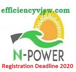 Npower Registration Deadline date for Batch C Recruitment 2020