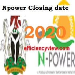 New Npower Batch C Recruitment Registration deadline/closing date