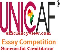 Unicaf Nigeria Essay Competition Beneficiaries List of Shortlisted Candidates 2020/2021