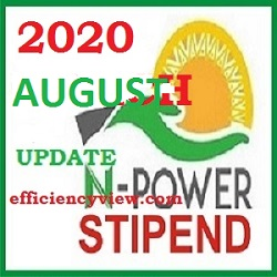Npower August Stipend Payment for Exited Batch A & B 2020