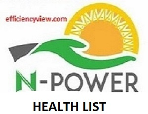 Npower Health Batch C Recruitment List of Shortlisted Candidates 2020/2021