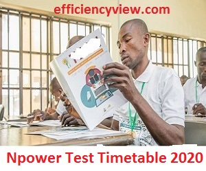 Npower Screening Assessment Test Timetable 2020