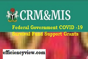 Federal Government COVID -19 Survival Fund Support Grants 2020/2021 register here