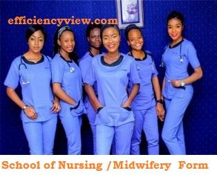 School of Nursing /Midwifery Registration Form in Nigeria 2021/2022 out