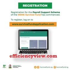 How to register/sign up for Survival Fund FG MSME - www.survivalfundapplication.com