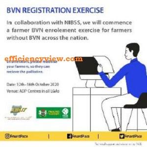 Fmardpace Farmers BVN Registration Form Portal 2020 across 36 States in Nigeria