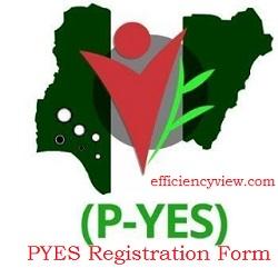 PYES Registration Form update 2020/2021- www.p-yes.gov.ng