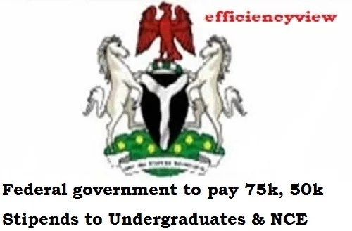 Federal government to pay 75k, 50k Stipends to Undergraduates & NCE Students