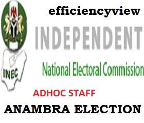 Inec-Adhoc Staff Recruitment Shortlisted Candidates 2021 for Anambra Governorship Election