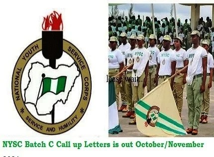 NYSC Batch C Call up Letters is out October/November 2021