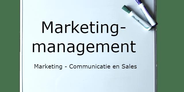 Opleiding Marketingmanagement