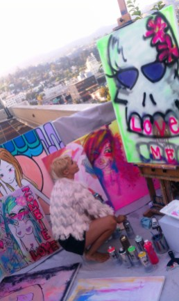 Artist on the Rooftop