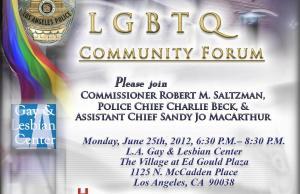 LAPD's LGBTQ Community Forum Poster