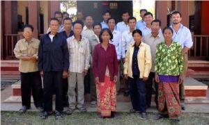 Mainguy and  CFI staff with all the village chiefs of Sen Sok and the commune chiefs.