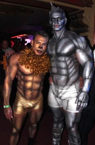 (L to R) Cowardly Lion, Tin Man