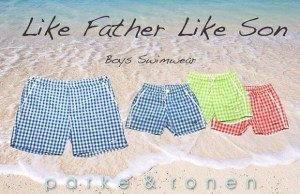Parke & Ronen Father-Son Swimwear