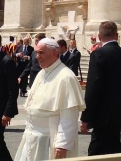 """Pope Francisco, my Italian is bad..."""