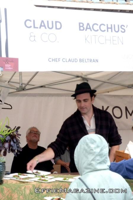 Chef Claud Beltran Keeps An Eye On Things
