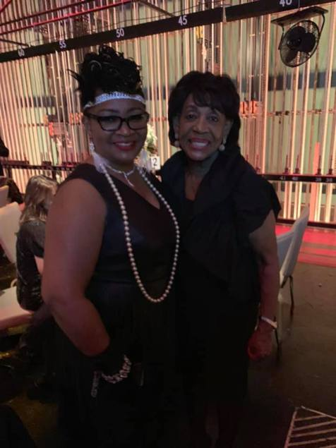 Realtor Stacy Harris-Green, BHGLAAR Officer with Congresswoman Maxine Waters. Photo Credit: BHGLAAR