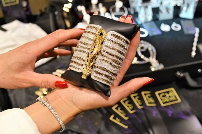 Chìmere Jewels Golden Dragon & Diamond Encrusted Cuff