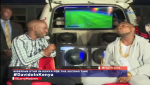 Davido's Interview Before his Kenya Concert + clip of perfomance (Videos)