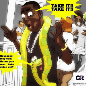 Davido's humour on the snake incident (Photo)