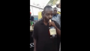 Jamaican Man Drinks A Bottle of Hennessey (Video)