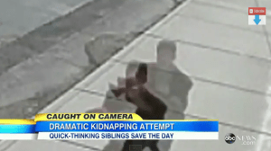 2 Children chase after a kidnapper in Washington (Video)