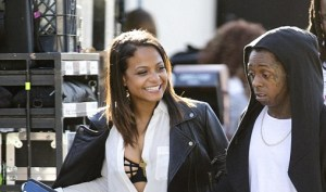 Lil Wayne and Christina Milian walking hand-in-hand (Photo)