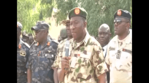 Watch President Goodluck Jonathan Addressing Victorious Troops In Baga (Video)