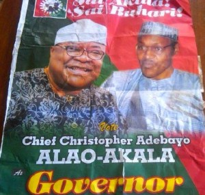"APC slams Alao-Akala over ""Sai Buhari"" Effect on campaign posters"
