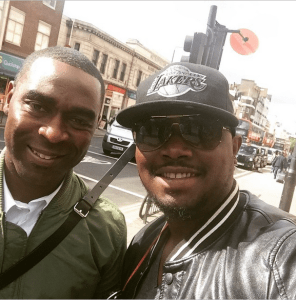 Dr Sid takes a quick Selfie with Soccer Legend Andy Cole (Photo)
