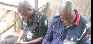 Security Officers at a Polling Unit Caught Sleeping (Photo) – Another Laugh