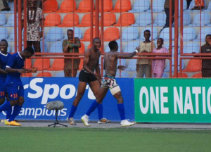 Look at these Footballers Stripping at Football Match (Photos)