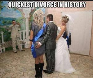 Quickest Divorce In History – Another Laugh (Photo)