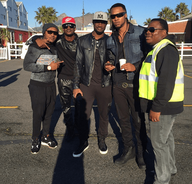 , P-Square and Flavour in South Africa for African Tour + Video Shoot (Photos), Effiezy - Top Nigerian News & Entertainment Website